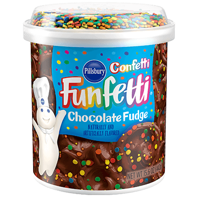 <strong>Confetti<sup>™</sup> Funfetti<sup>®</sup></strong> Chocolate Fudge Frosting