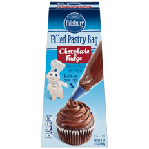 Filled Pastry Bag Chocolate Fudge Frosting thumbnail
